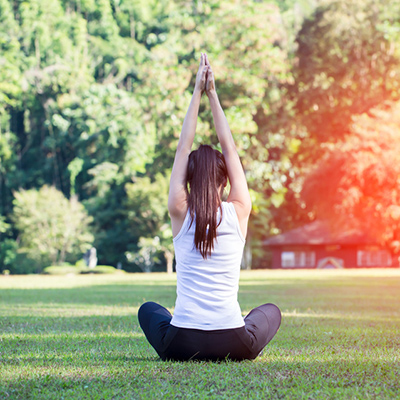 Image of a woman with Yoga pose