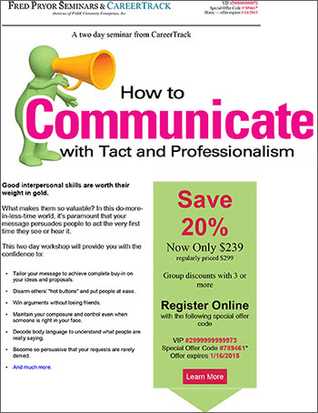 how to communicate with tact and This how to communicate with diplomacy, tact, and credibility course is offered multiple times in a variety of locations and training topics ama2206 how to communicate with diplomacy, tact, and credibility.