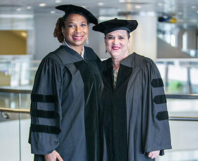 Honorary doctorates Eve Ensler and Kimberle Williams Crenshaw