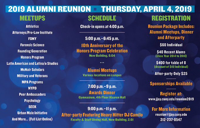 Alumni Reunion 2019 Events