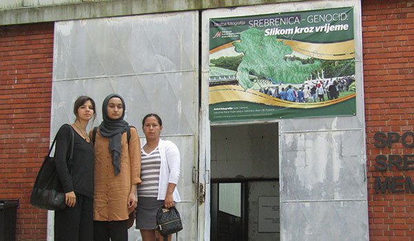 John Jay students at the Srebrenica Museum