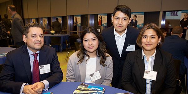 Prof. Jose Luis Morin with students at Champions of Justice