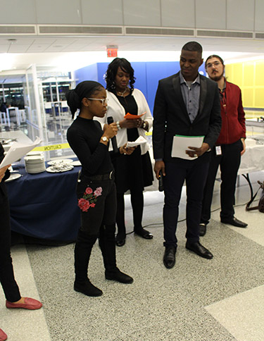 scenes from COSL's 8th Annual Oxfam Hunger Banquet
