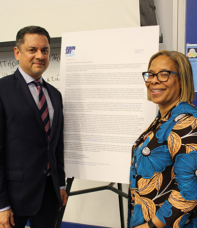 Department of Latin American and Latinx Studies Chair and Professor José Luis Morín and President Karol V. Mason stand by the letter written by the LLS department in solidarity with El Paso