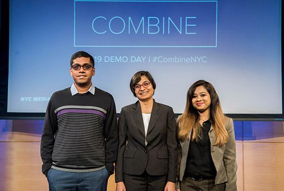 The eWitness team Kumar Ramansenthil, Shweta Jain, and Priyanka Samanta.
