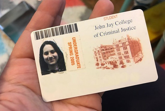 Frometa holding her original John Jay ID