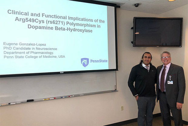 Eugene Gonzalez-Lopez when he was a Ph.D. candidate at Penn State College of Medicine.