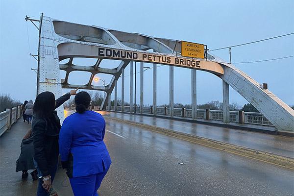 Serieux on the Edmund Pettus Bridge