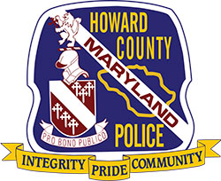 Howard County Police Department badge