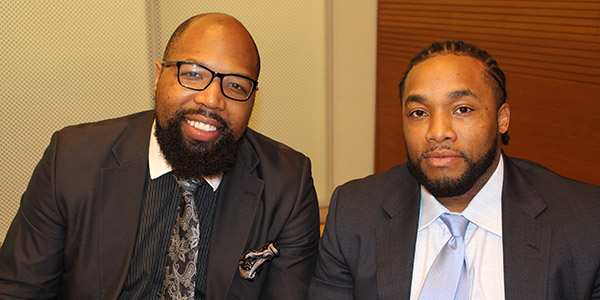 left to right, Vincent Stevenson and Jemar Williams