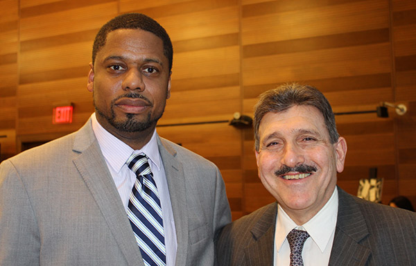 (left to right) Jay Holder, Columbia Center for Justice, with Anthony J. Annucci, Acting Commissioner, New York State Department of Corrections and Community Supervision