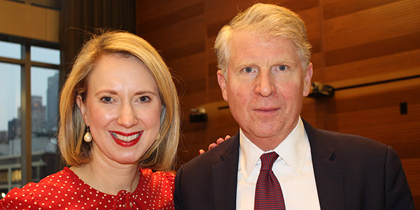 (left to right) Lucy Lang, Executive Director of The IIP, with Cyrus R. Vance, Jr., Manhattan District Attorney