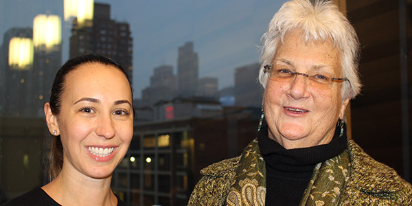 (left to right) Maggie Wolk, Director of Planning and Management at New York County District Attorney's Office, and Ann Jacobs, Director Prisoner Reentry Institute