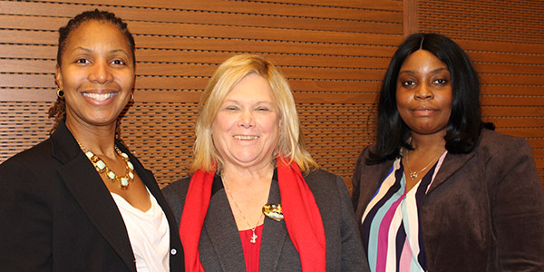(left to right) Michelle Yon, Queensboro Deputy Superintendent; Kathleen Gerbing, Department of Corrections and Community Supervision Superintendent; and Delta Barometre, Lincoln Superintendent