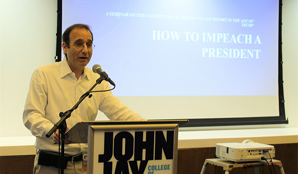 Hiller explaining the steps for impeachment