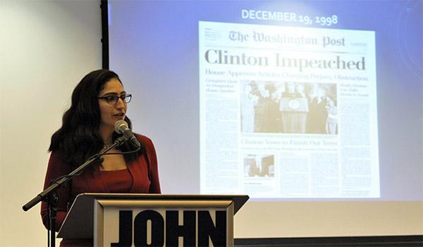 Afia providing details on the Clinton impeachment