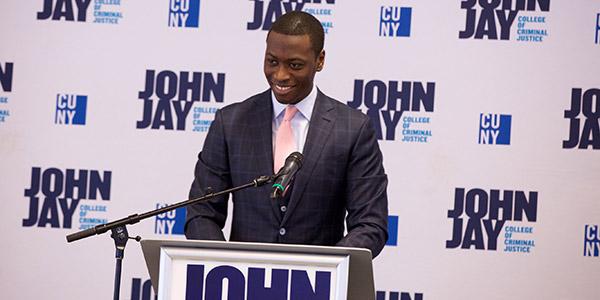Jame Cadogan during his keynote address
