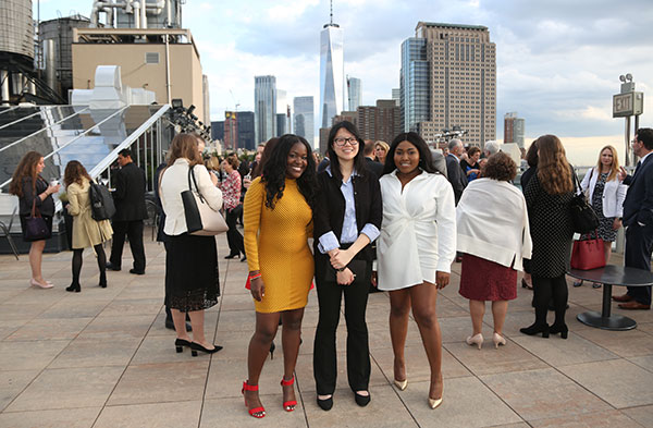 John Jay students enjoying the New York City view at the LIFT Gala