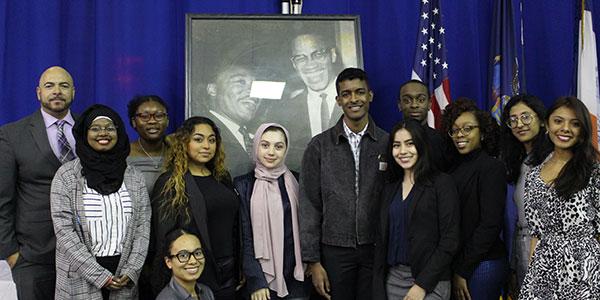 McNair Scholars with their mentor Ernest Lee, Ph.D. (far left)