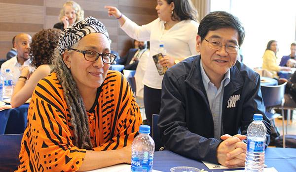 Professor Jessica Gordon-Nembhard and Provost Yi Li