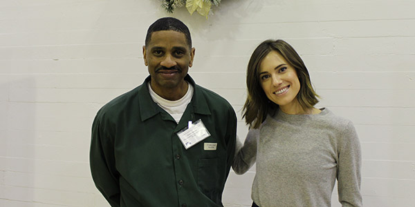 Allison Williams with Tribeca facilitator Richard Seabrook