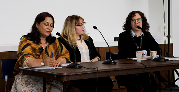Muna Basnyat, Meredith Dank and Kelly Gleason