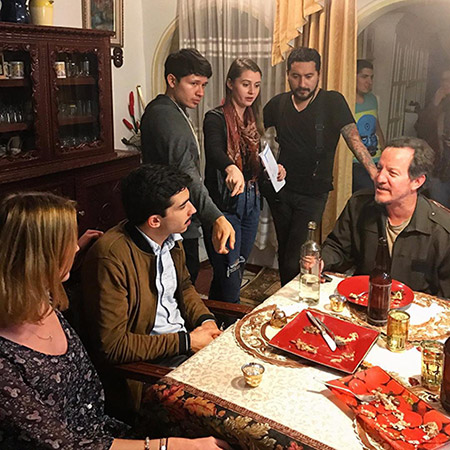 Behind the scenes on the set of Ruta Viva