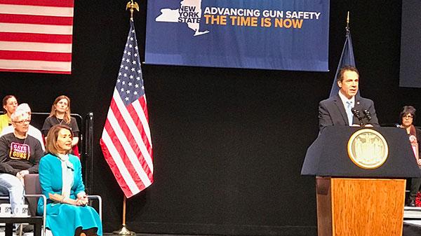 Governor Andrew Cuomo speaking