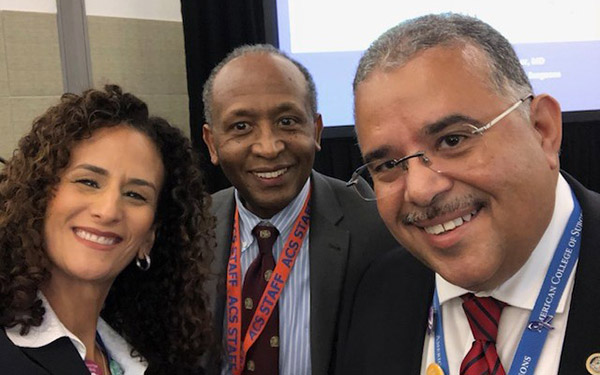 (left to right) Professor Jodie Roure, Dr. Girma Tefera, and Dr. Rafael Rodríguez Mercado at ACS' Boston Conference