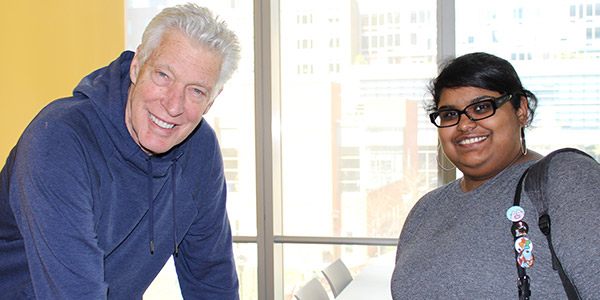 Professor Donaldson with John Jay student Anum Bokhari
