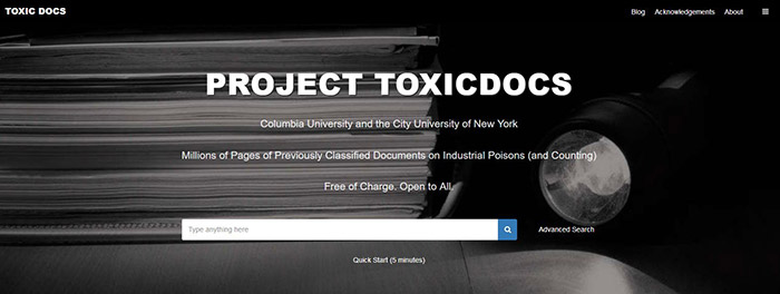 Toxic Docs web page screenshot