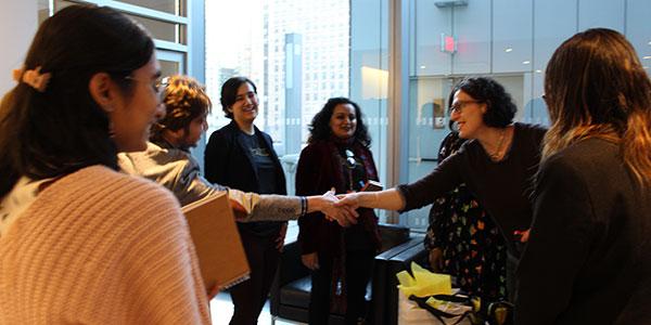 John Jay students meet Brittany Packnett and Sarah Koenig