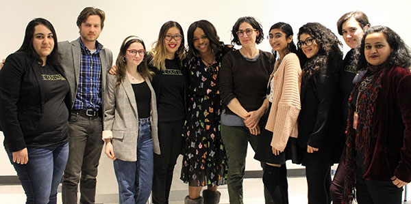 Before the Trailblazers Award Dinner, Brittany Packnett and Sarah Koenig gathered with John Jay students to discuss the do's and don'ts of podcasting.