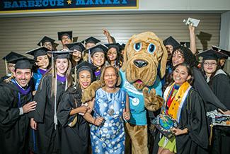President Mason with 2018 John Jay graduates