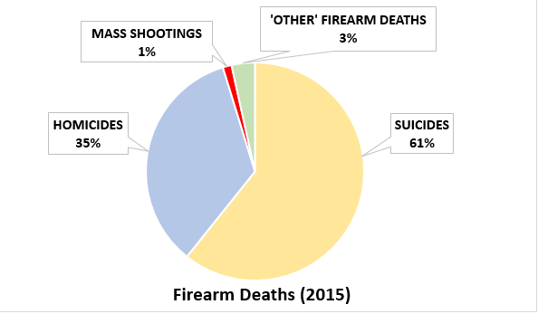 Graph shows that mass shootings make up only 1% of gun violence