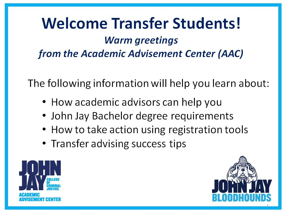Welcome CJA Transfer Students