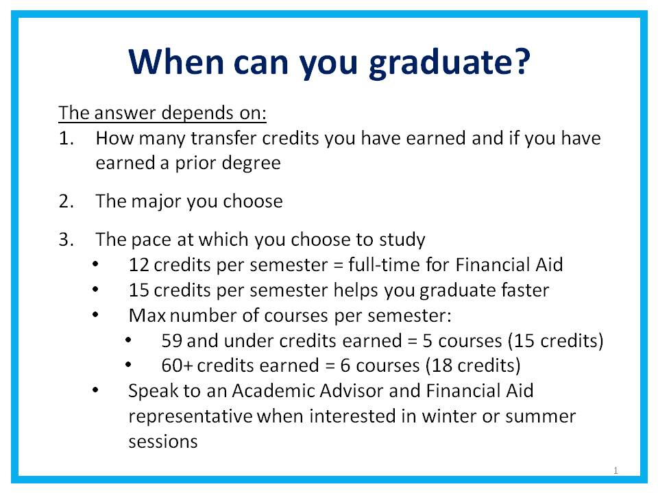When Can You Graduate?