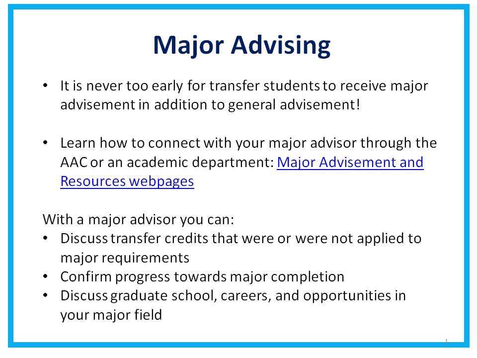 Major Advising