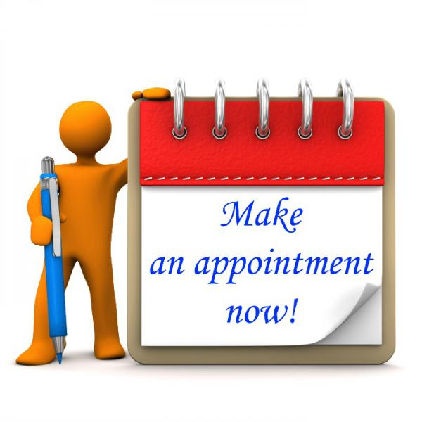 Make an appointment now!