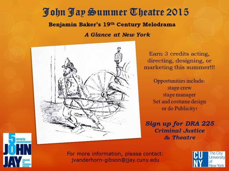 DRA 225 Summer Theatre