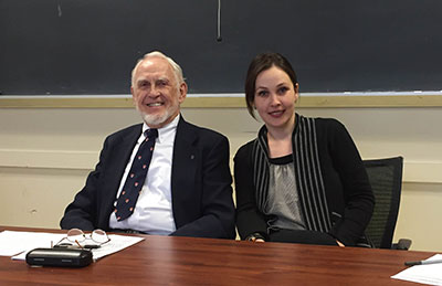 Mr. Dwight Smith with Dr. Jana Arsovska