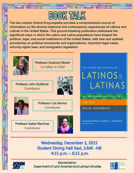 Book Talk: the Oxford Encyclopedia of Latinos & Latinas