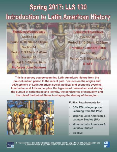 LLS 130 Introduction to Latin American History