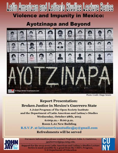 Violence and Impunity in Mexico: Ayotzinapa and Beyond