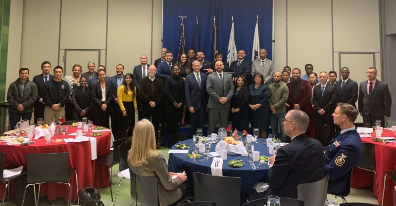 John Jay veterans celebrate their academic achievements during the SALUTE Veterans' National Honor Society Induction Banquet.