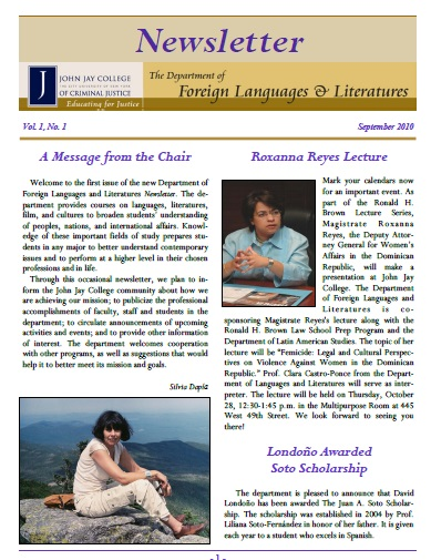 Newsletter September 2010