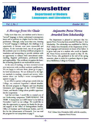 Newsletter October 2011