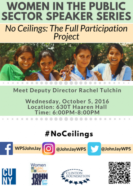 WPS Collaboration With No Ceilings: The Full Participation Project of the Clinton Foundation Flyer