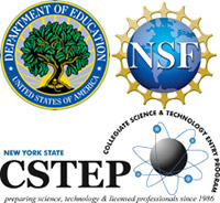 logos of Department of Education, NSF, CSTEP