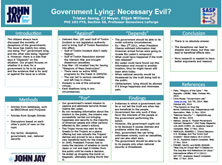 Government Lying: Necessary Evil?